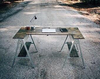 Sawhorse office desk \ sawhorse table