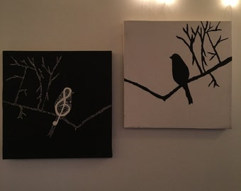 Musical Bird Paintings