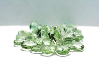 AAA quality Green Amethyst Pear shape faceted/ 8 x 11 mm