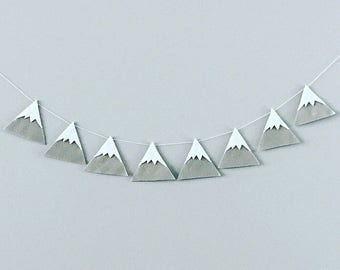 Gray Felt Mountain Banner | Mountain Wall Art | Nursery Decor | Gray Felt Banner | Nusery Wall Art | Mountain Wall Hanging | Mountain Art |