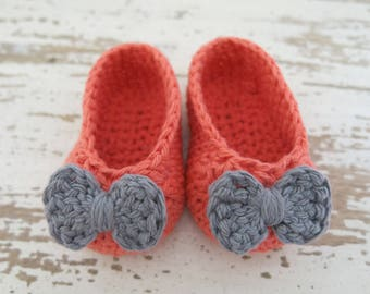 Crochet Baby Ballerina Flats
