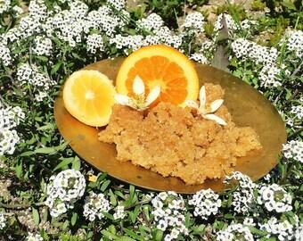 organic orange sugar scrub