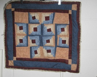 Log Cabin Quilt Wall Hanging