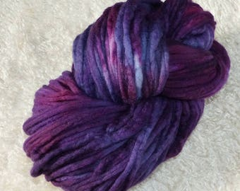 135 g Merino silk combed tops hand dyed (roving pencil)