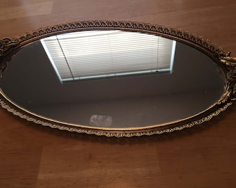 Gold Plated Mirrored Tray