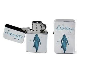 Windproof Lighter Severus Snape Always Harry Potter Fliptop Chrome Cigarette Favor Steel