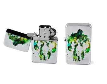 Windproof Lighter Hulk Bruce Banner Fliptop Chrome Cigarette Favor Steel