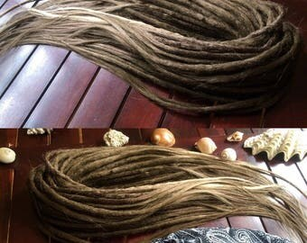 Double ended soft dreadlocks, look like natural