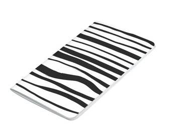 Striped Pocket Journal, Black and White Notebook, Notepad, sketchbook, journal, black notebook,grid, gift, blank lined, unlined, checklist