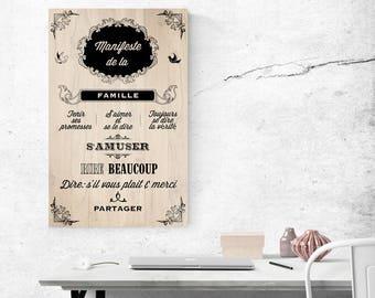 Panneau décoratif | Manifeste de la famille
