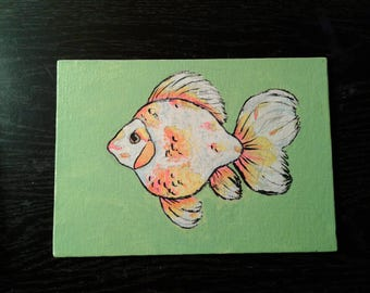 Goldfish - Original 5x7 Acrylic Painting