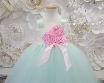 Mint Flower Girl Tutu Dress-Mint Tutu Dress-Mint Girl Tutu-Mint Girl Tutu-Mint Wedding Tutu.Mint Wedding Tutu. Mint dress
