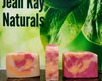 Apple Jack Orange peel cold process soap