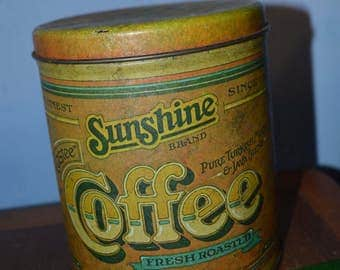 Vintage styled coffee tin