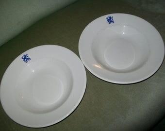 1950s vintage Dutch Army ceramic Dinner plates x 2