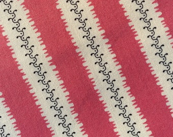 Pink Mauve Striped Cotton Fabric By the Yard - Pink Stripish From Free Spirit Fabrics