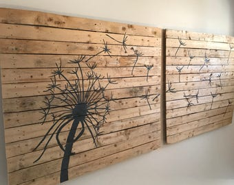 Pallet Art, Dandelion