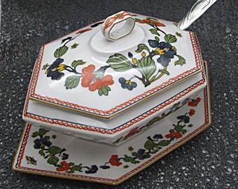 Gravy boat fine Limoges porcelain 19th