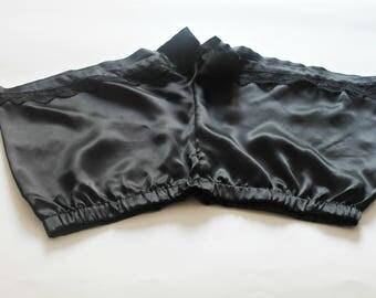 Silk shorts - silk pajamas shorts - black silk shorts - pajamas bottom - made to order