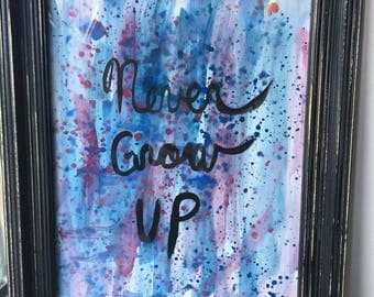 Never Grow Up Painting
