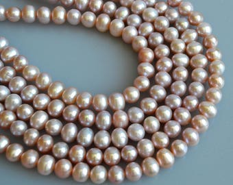 8-9 mm AA Natural Pink Potato Freshwater Pearl Beads, Genuine Pearl Beads, High Luster Pink Freshwater Pearls, Natural Pearl (89-PPK0809)