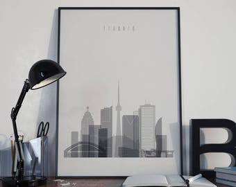 Toronto Art Toronto Watercolor Toronto Multicolor Toronto Wall Art Toronto Wall Decor Toronto Home Decor Toronto Skyline Toronto Print