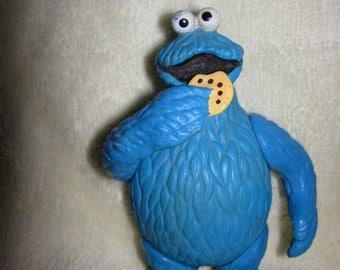Vintage Cookie Monster Posable Figurine 1985