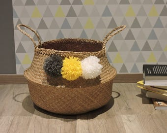 Basket ball Thai with PomPoms wool