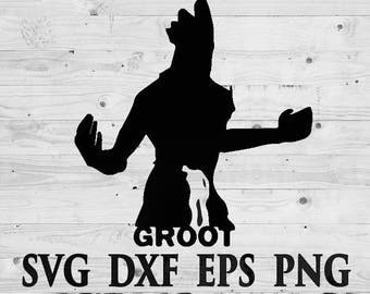 Guardians of galaxy Groot SVG Files Silhouettes DXF Files Cutting files Cricut Silhouette