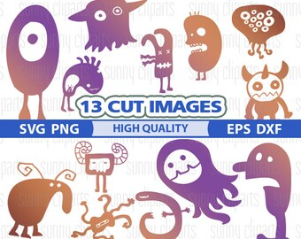 Monster Silhouette Svg, Monster Svg Files, Monster Clipart, Monster Decal, Monster Png, Svg Cutting File, Cuttable Files, Vinyl Cut Files