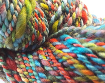 2 strands hand spun merino wool 65 grams em 78 grams