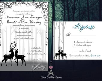 Elegant Always Harry Potter Wedding Invitation Suite