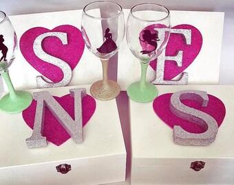 Large empty bridesmaid box