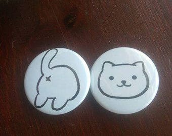 Neko Atsume Cat + Butt Pin Set