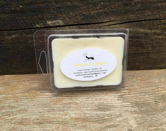 Soy Wax Melt in White Tea & Ginger