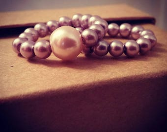 Pearl Beaded Stretchy Rings