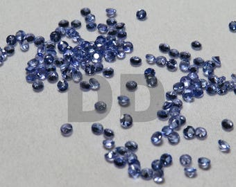Top Quality Tanzanite faceted round AAA quality calibrated size loose gemstone wholesale 100% Natural Stone  Tanzanite 2mm round