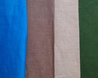 Pure 100% linen fabric. Width 150cm. 190gsm. Middle weight, densely woven, washed-softened. For clothes and other textile.NATURAL COLOR