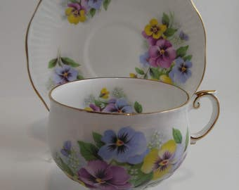 4 Vintage Rosina Fine Bone China Cup and Saucer   #215