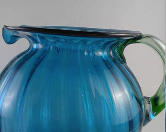 REDUCED  Antique Mouth Blown Cider Pitcher  #2