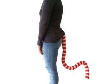 Stripy Cat in the Hat Animal Tail