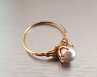 Vintage/antique pearl engagement ring