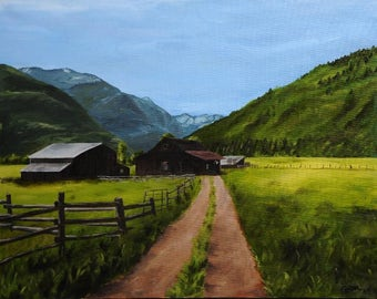 Ouray Colorado Painting Print