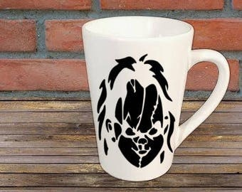 Chucky Childs Play Horror Mug Coffee Cup Gift Halloween Home Decor Kitchen Bar Gift for Her Him