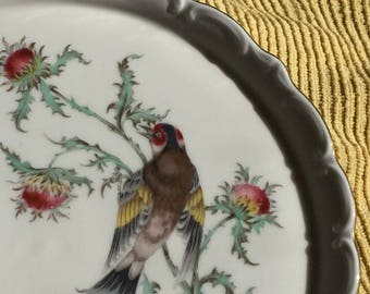 "Eberthal Bavaria Plate ""Thistle and Goldfinch"" 1469 (#100)"