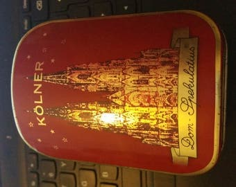 collector tin two part kolner dom spekulatius