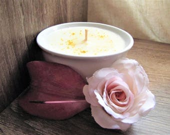 Sorbert Lemon Soy Candle // Wood Wick // All Natural // Home Decor