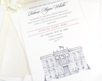 College of William & Mary Graduation Announcement, Grad Announcements, WM, Virginia, College, Tech Graduation Cards (set of 25)