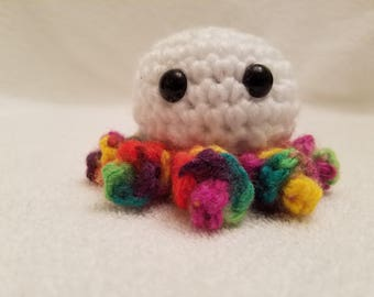 Crocheted  Amigurumi Mini Octopus