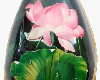 Kaytro - Mandolin Instrument - Handmade - Lotus Oil Painting & Mop Inlaid Classical Bowl Back Mandolin - Hard Case 4636